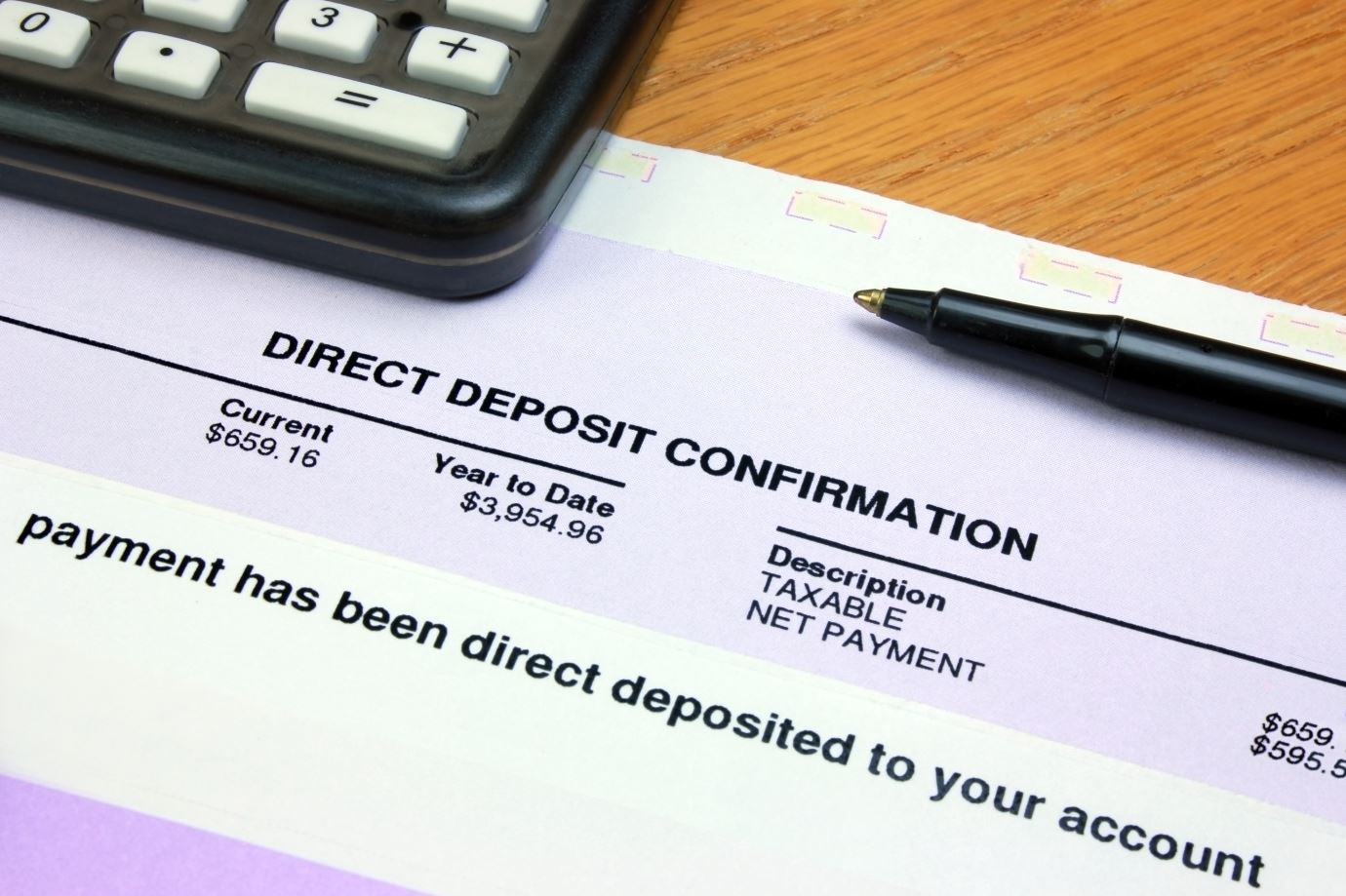 Direct Deposit Confirmation Form