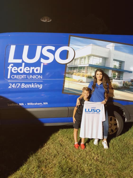 Luso MSR and son standing by LUSO Van